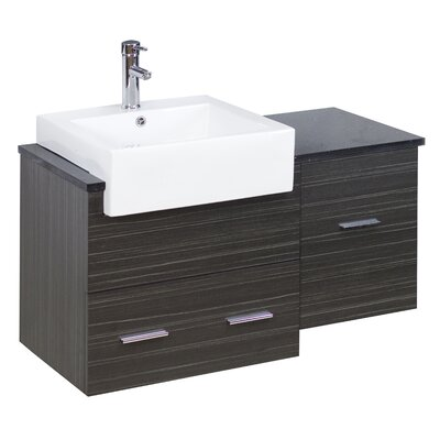 38 Single Modern Wall Mount Bathroom Vanity Set Hardware Finish: Chrome, Faucet Mount: Single