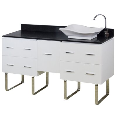 60 Single Modern Bathroom Vanity Set Hardware Finish: Chrome