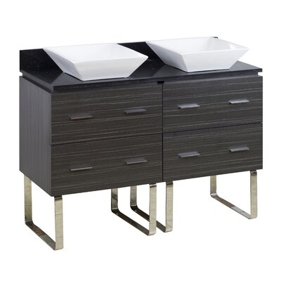 48 Double Modern Bathroom Vanity Set Hardware Finish: Aluminum