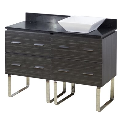 48 Single Modern Bathroom Vanity Set Hardware Finish: Brushed Nickel