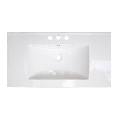 32 Single Bathroom Vanity Top Hardware Finish: White