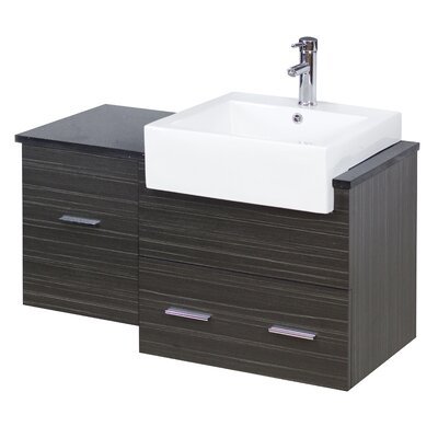38 Single Modern Wall Mount Bathroom Vanity Set Faucet Mount: Single, Hardware Finish: Aluminum