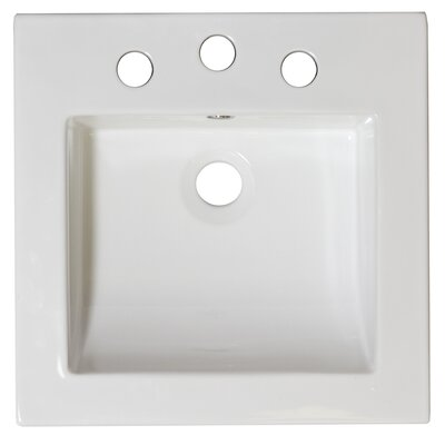 22 Single Bathroom Vanity Top Hardware Finish: Aluminum, Faucet Mount: 4 Off Center