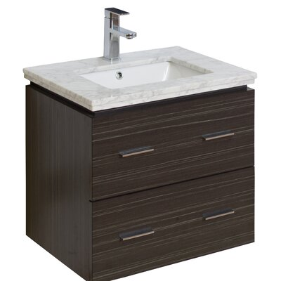 24 Single Modern Wall Mount Bathroom Vanity Set Hardware Finish: Chrome