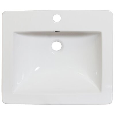 21 Single Bathroom Vanity Top Hardware Finish: Brushed Nickel, Faucet Mount: Single
