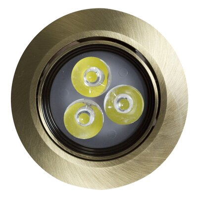 Round Brass 3.5 LED Recessed Individual Spotlight Finish: Antique Brass, Hardware Finish: Brushed Nickel