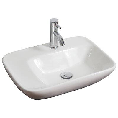 Ceramic 24 Wall Mount Bathroom Sink