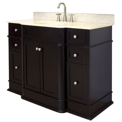 50 Single Traditional Bathroom Vanity Set Hardware Finish: Chrome