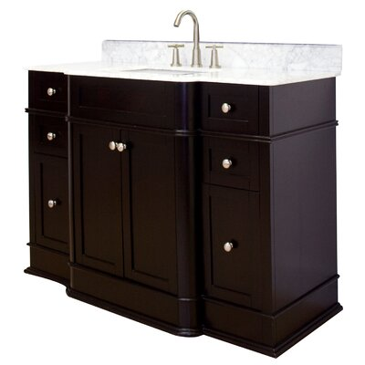50 Single Traditional Bathroom Vanity Set Hardware Finish: Brushed Nickel