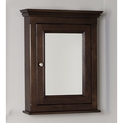 22.5 x 30 Surface Mount Medicine Cabinet Finish: Walnut, Hardware Finish: Chrome