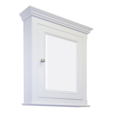 22.5 x 30 Surface Mount Medicine Cabinet Finish: White, Hardware Finish: Antique Brass