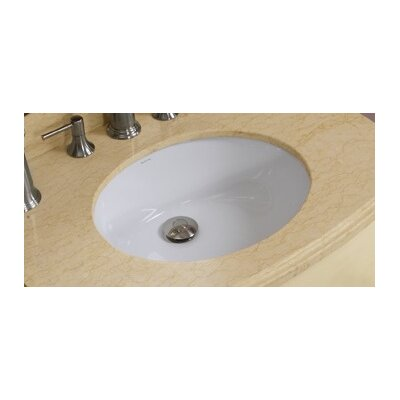 American Imaginations Oval Undermount Bathroom Sink with Overflow Sink Finish: White, Hardware Finish: Chrome