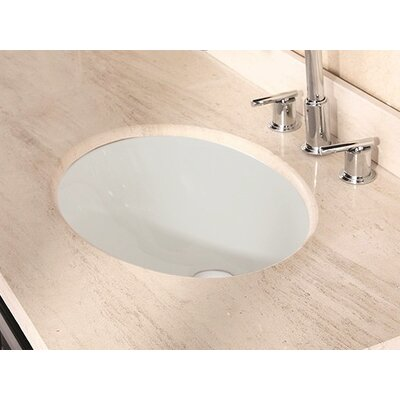 American Imaginations Oval Undermount Bathroom Sink with Overflow Sink Finish: Biscuit, Hardware Finish: Chrome