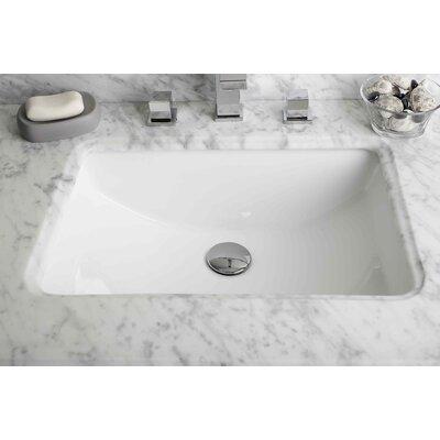 Rectangular Undermount Bathroom Sink with Overflow Sink Finish: White