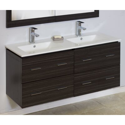 Modern 46 Double Vanity Base Hardware Finish: Aluminum