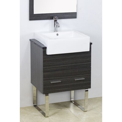 Mulberry Floor Mount 38 Single Bathroom Vanity Set with Ceramic Top Faucet Mount: Single Hole