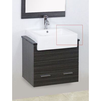 Mulberry Wall Mount 62 Double Bathroom Vanity Set Faucet Mount: Single Hole