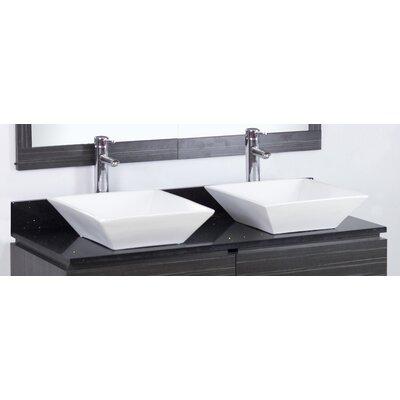 Kaplan Wall Mount 48 Double Bathroom Vanity Set