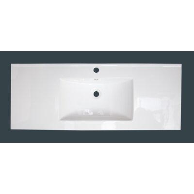 Cataldo Floor Mount 48 Single Bathroom Vanity Set Base Finish: White, Faucet Mount: Single Hole