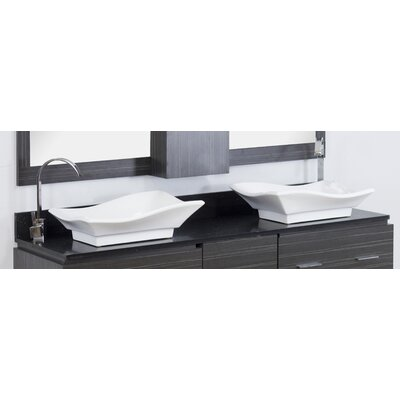 Xena Quartz 60 Double Bathroom Vanity Top