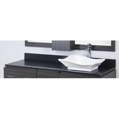 Kaplan Modern Wood Wall Mount 60 Single Bathroom Vanity Set