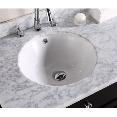 American Imaginations Circular Undermount Bathroom Sink Faucet Mount: White, Hardware Finish: Aluminum