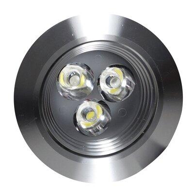 Round Brass 3.5 LED Recessed Individual Spotlight Finish: Brushed Nickel, Hardware Finish: Brushed Nickel