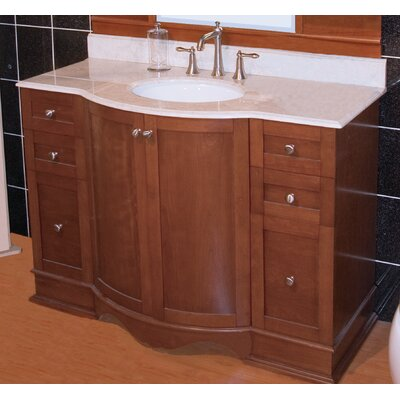 Traditional 47 Single Bathroom Vanity Base Hardware Finish: Chrome