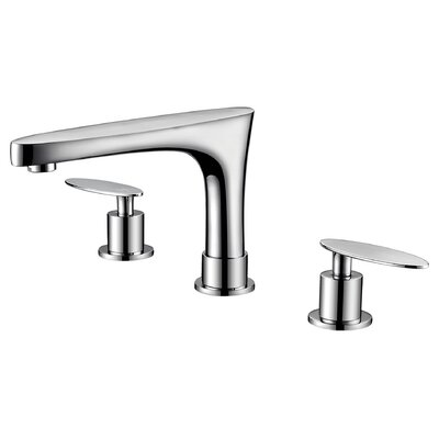 Double Handle Off Center Brass Faucet