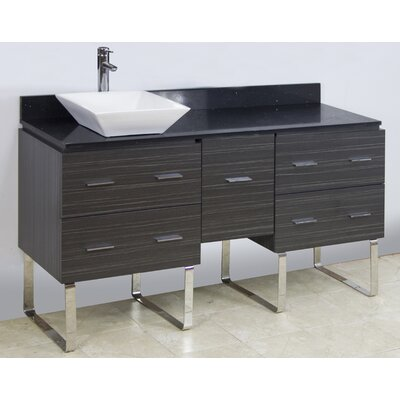 60 Single Modern Bathroom Vanity Set Hardware Finish: Brushed Nickel