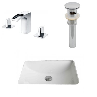 Rectangular Undermount Bathroom Sink with Overflow