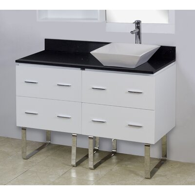 48 Single Modern Bathroom Vanity Set Hardware Finish: Brushed Nickel