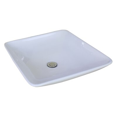 Ceramic Square Vessel Bathroom Sink
