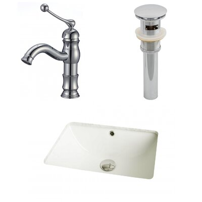 Rectangular Undermount Bathroom Sink with Overflow Sink Finish: Biscuit