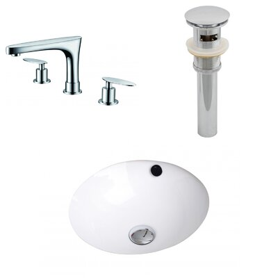 Circular Undermount BathroomSink with Overflow