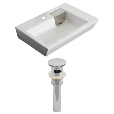 26Wall Mounted Bathroom Sink with Overflow