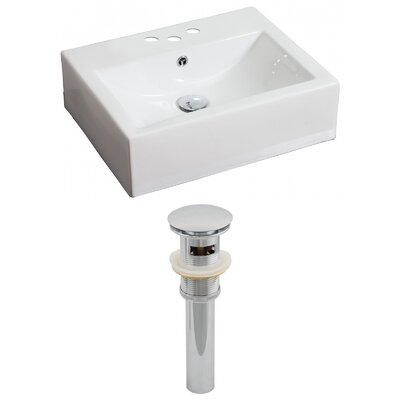 21Wall Mounted Bathroom Sink with Overflow