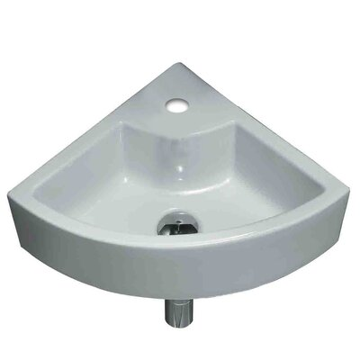 Unique Ceramic Specialty Wall-Mount Bathroom Sink with Faucet