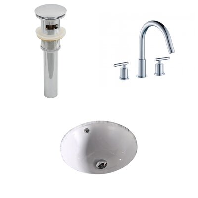 Circular Undermount Bathroom Sink with Overflow
