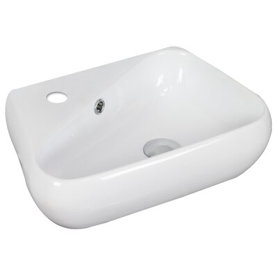 Specialty Ceramic Specialty Vessel Bathroom Sink with Overflow