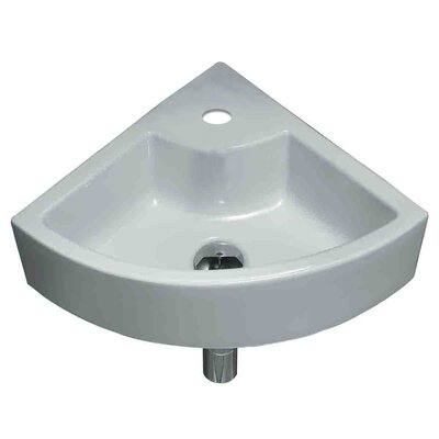Ceramic Specialty Vessel Bathroom Sink Hardware Finish: Brushed Gold