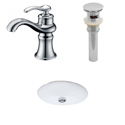 Oval Undermount BathroomSink with Overflow