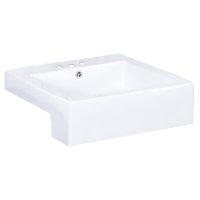 Xena Farmhouse Rectangular Vessel Bathroom Sink with Overflow