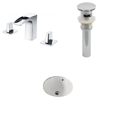 Circular Undermount Bathroom Sink with Overflow