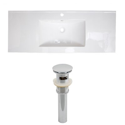 Zia Ceramic Drop-In 48 Single Bathroom Vanity Top Faucet Mount: Single Hole