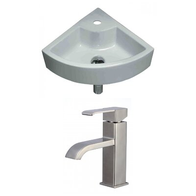 Unique Specialty Ceramic Specialty Vessel Bathroom Sink with Faucet