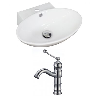 21 Wall Mount Bathroom Sink with Overflow