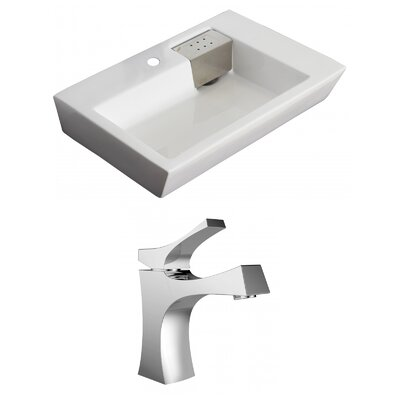 26 Wall Mount Bathroom Sink with Overflow