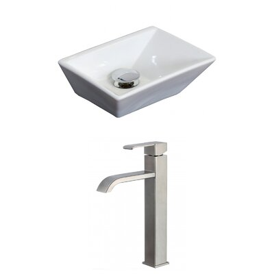 Emily Rectangular Vessel Bathroom Sink
