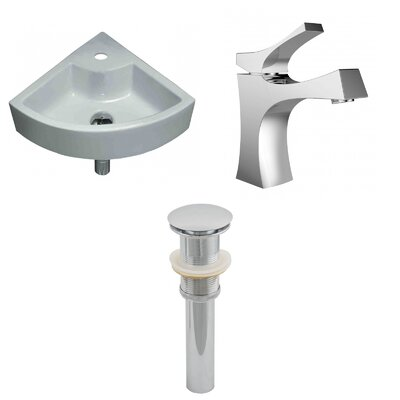 Specialty Ceramic Specialty Vessel Bathroom Sink with Faucet